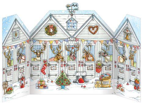 Flamingo Paperie advent calendars Reindeer Stables Advent Calendar xadv03