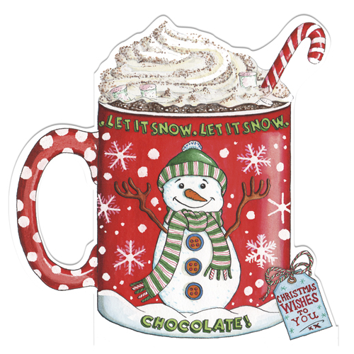 hot chocolate christmas cards