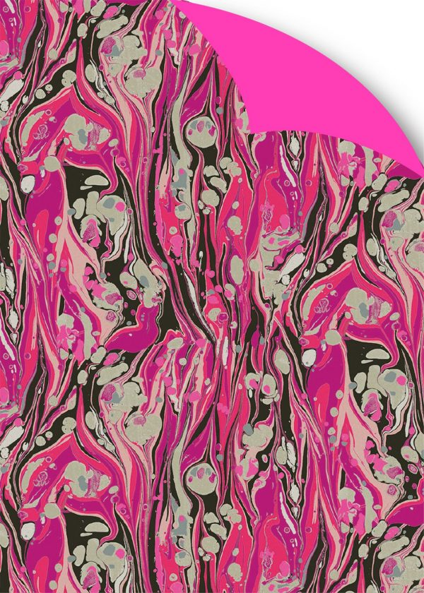 Designers Guild Delahaye Magenta gift wrap