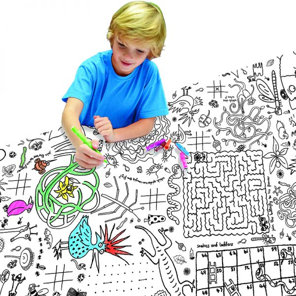 colour in puzzles tablecloth