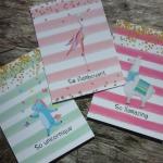 So Flamboyant, Llamazing and Unicornique Notebook Set