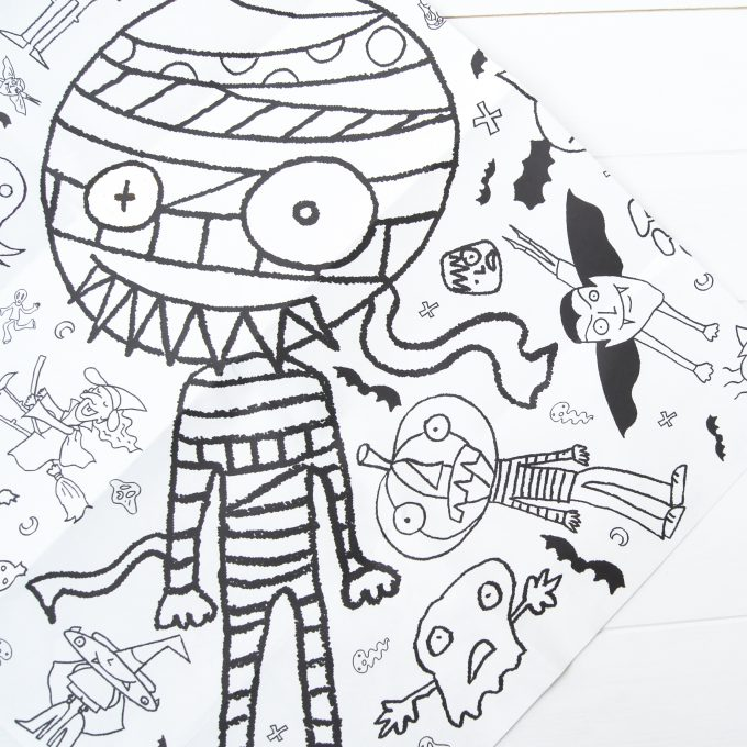 Download Halloween Colour in Tablecloth - Cards and Gift Wrap
