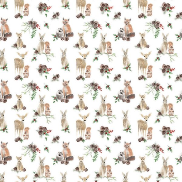 forest animals gift wrap