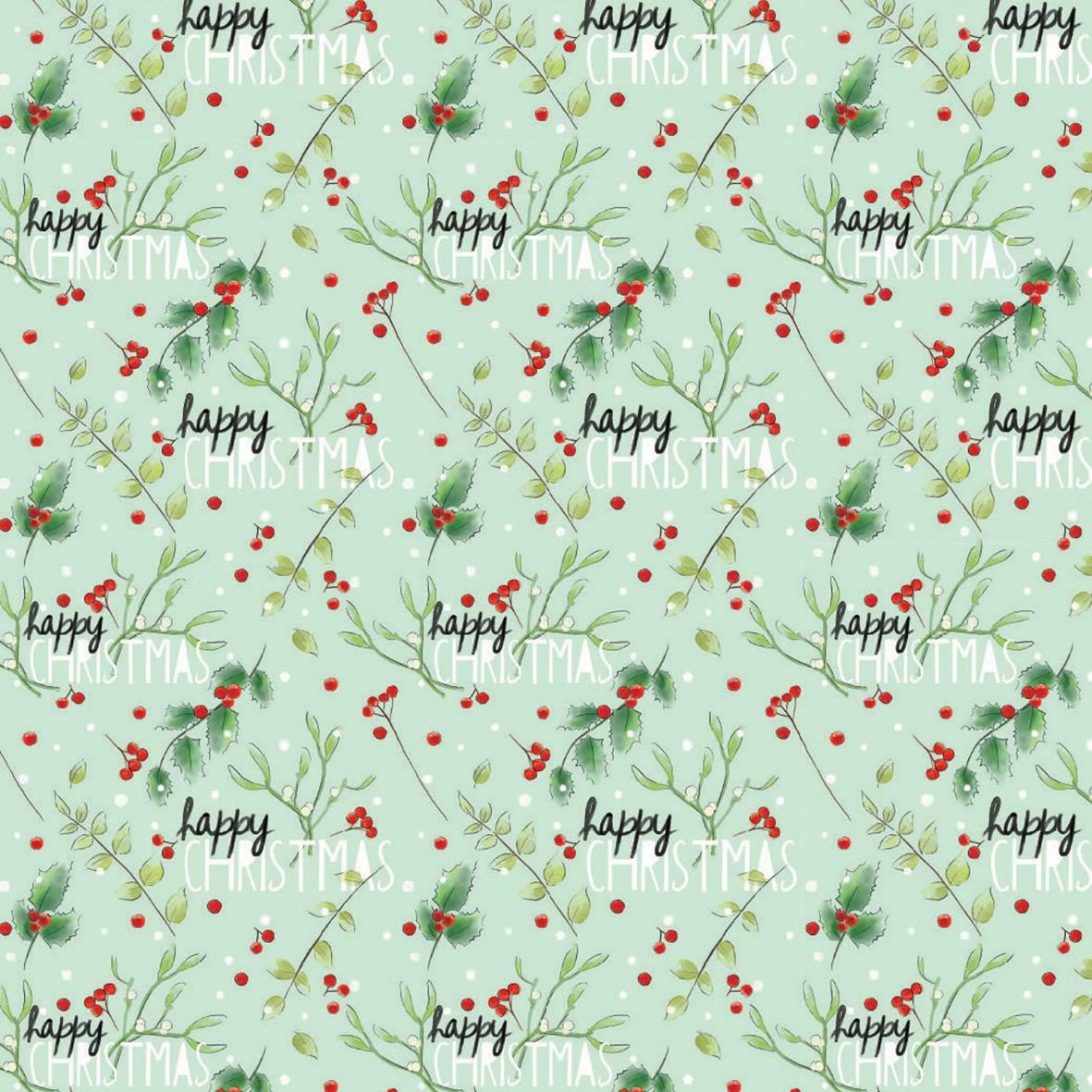 Christmas Gift Wrap Design.Mistletoe Gift Wrap