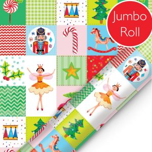 patchwork nutcracker jumbo roll wrap