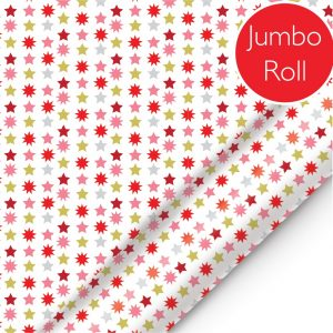 Red and gold stars jumbo roll