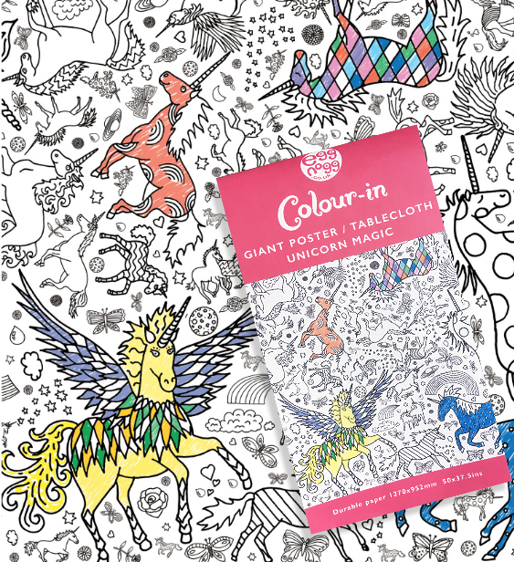 Unicorn colour in tablecloth