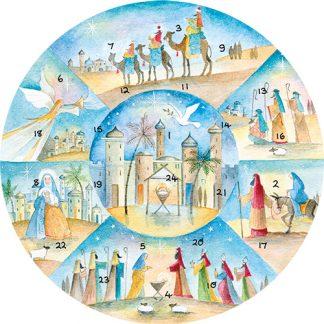 circular nativity advent calendar