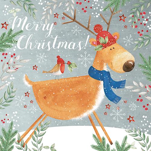 Reindeer Christmas Cards.Merry Christmas Reindeer Christmas Cards