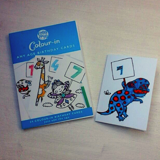 colour in special age birthday cards