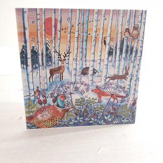 Winter Woodlands Advent Calendar Card