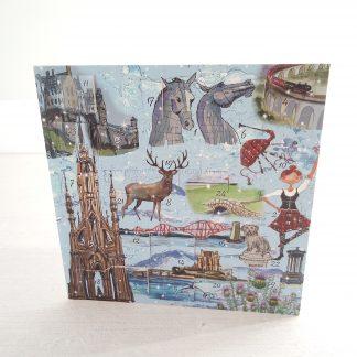 Bonnie Scotland advent calendar card
