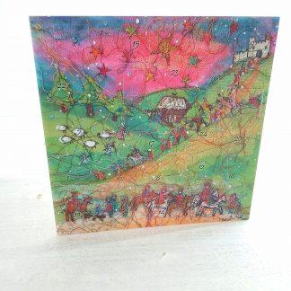 Journey of the Magi Advent Calendar Card