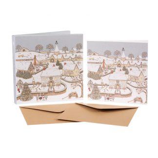 Snowy Village Christmas cards